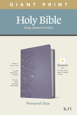 KJV Personal Size Giant Print Bible, Filament Enabled Edition (Leatherlike, Peony Lavender) Cover Image