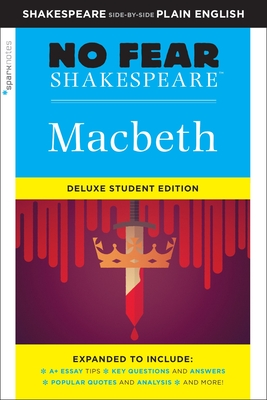 Macbeth: No Fear Shakespeare Deluxe Student Edition, Volume 28 (Sparknotes No Fear Shakespeare #28) Cover Image