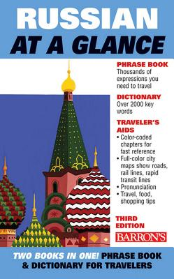 Cover for Russian at a Glance (Barron's Foreign Language Guides)