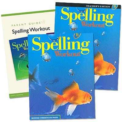 Spelling Workout Homeschool Bundle Level B Copyright 2002 [With Parent Guide and Teacher's Guide] Cover Image