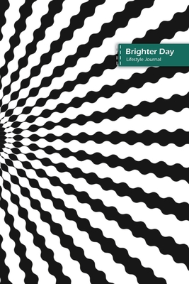 Brighter Day Lifestyle Journal, Blank Write-in Notebook, Dotted Lines, Wide Ruled, Size (A5) 6 x 9 In (Black) Cover Image