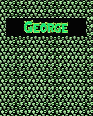 120 Page Handwriting Practice Book with Green Alien Cover George: Primary Grades Handwriting Book Cover Image