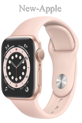 New-Apple: Watch Series 6 (GPS, 40mm) - Gold Aluminum Case with Pink Sand Sport Band Cover Image