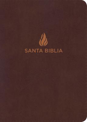 Cover for RVR 1960 Biblia Letra Grande Tamaño Manual marrón, piel fabricada con índice