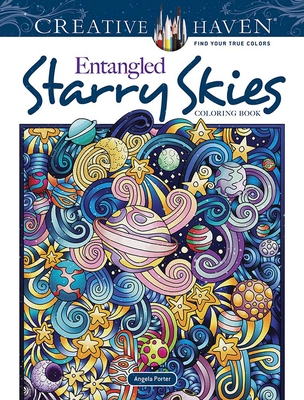 Creative Haven Entangled Starry Skies Coloring Book (Creative Haven Coloring Books) cover