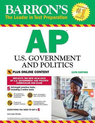 Barron's AP U.S. Government and Politics with Online Tests (Barron's Test Prep) Cover Image