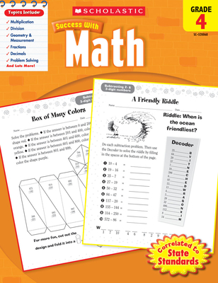 Scholastic Success With Math: Grade 4 Workbook Cover Image