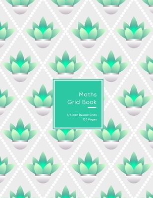 Maths Grid Book: 4 squares per inch Quad size graph paper grid book for students or Mathematician - Notebook for simple to advanced fra Cover Image