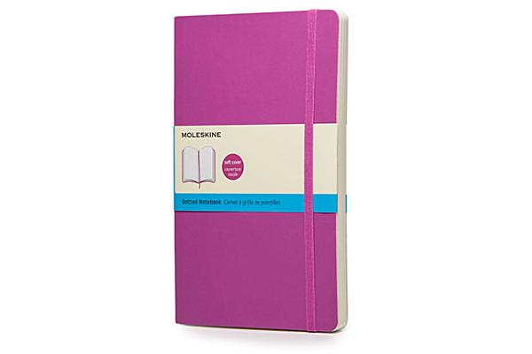 Moleskine Classic Large Dotted Notebook: Orchid Purple Cover Image