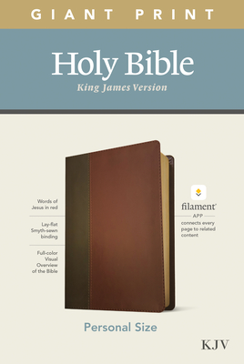 KJV Personal Size Giant Print Bible, Filament Enabled Edition (Leatherlike, Brown/Mahogany) Cover Image
