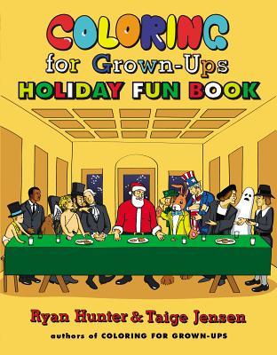 Coloring for Grown-Ups Holiday Fun Book Cover Image