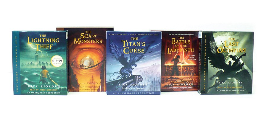 Percy Jackson and the Olympians books 1-5 CD Collection Cover Image