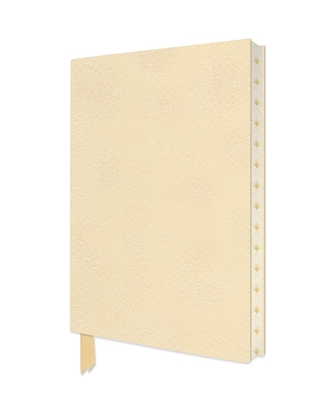 Ivory White Artisan Notebook (Flame Tree Journals) (Artisan Notebooks) Cover Image