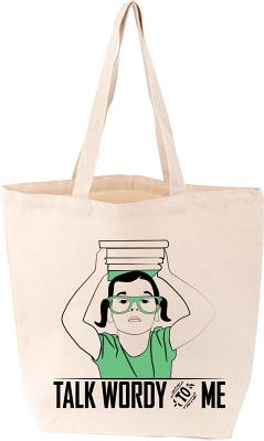 Talk Wordy to Me Tote Cover Image
