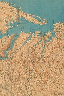 Cover for Eastern Virginia Vintage Map Field Journal Notebook, 50 pages/25 sheets, 4x6
