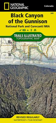 Black Canyon of the Gunnison National Park [curecanti National Recreation Area] (National Geographic Maps: Trails Illustrated #245) Cover Image