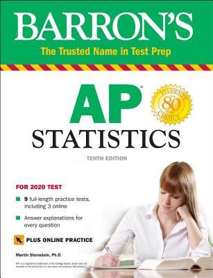 AP Statistics with Online Tests (Barron's Test Prep) Cover Image