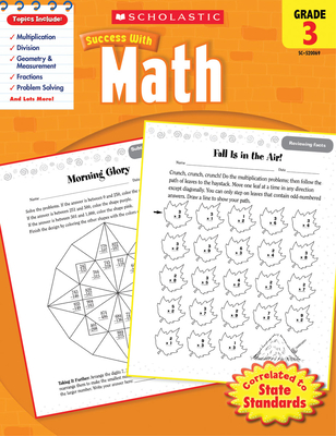 Scholastic Success With Math: Grade 3 Workbook Cover Image