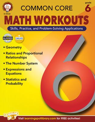 Common Core Math Workouts, Grade 6 Cover Image