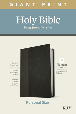 KJV Personal Size Giant Print Bible, Filament Enabled Edition (Leatherlike, Black/Onyx) Cover Image