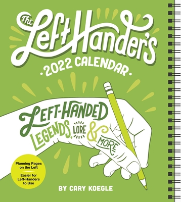 The Left-Hander's 2022 Weekly Planner Calendar Cover Image