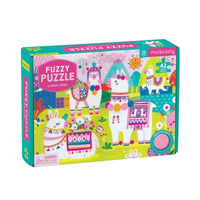 Llama Land Fuzzy Puzzle Cover Image