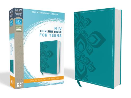 NIV, Thinline Bible for Teens, Imitation Leather, Blue, Red Letter Edition Cover Image