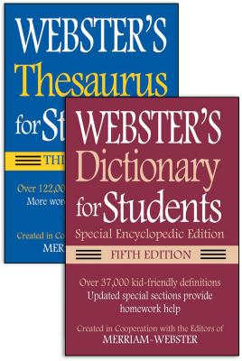 Webster's for Students Dictionary/Thesaurus Shrink-Wrapped Set Cover Image