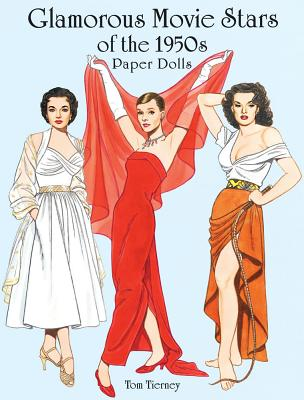 Glamorous Movie Stars of the 1950s Paper Dolls (Dover Celebrity Paper Dolls) Cover Image