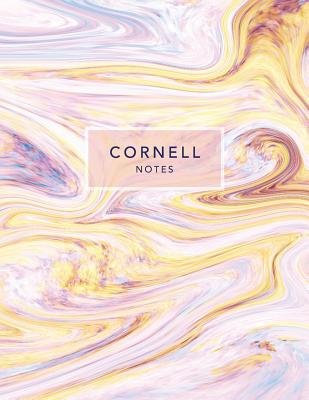 Cornell Notes: Pastel Marble - 120 White Pages 8.5x11