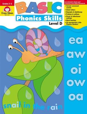 Basic Phonics Skills, Level D: EMC 3321 (Evan-Moor) Cover Image