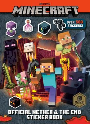 Minecraft Official the Nether and the End Sticker Book (Minecraft) Cover Image