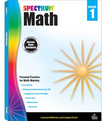 Spectrum Math Workbook, Grade 1 Cover Image