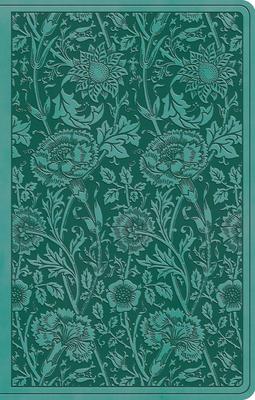 ESV Premium Gift Bible (Trutone, Teal, Floral Design) Cover Image