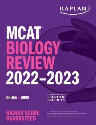 MCAT Biology Review 2022-2023: Online + Book (Kaplan Test Prep) Cover Image