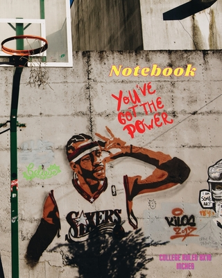 Notebook College Ruled 8X10 inches Trendy Graffiti Street Art: Composition Notebook, Large Basket-ball College Notebook for Students, Teachers, Kids a Cover Image