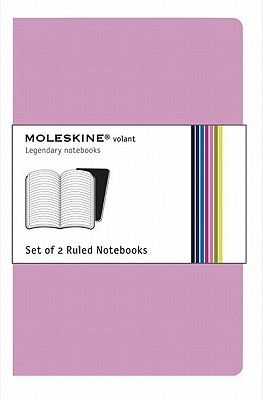 Moleskine Volant Notebook (Set of 2 ), Pocket, Ruled, Pink Magenta, Magenta, Soft Cover (3.5 x 5.5) (Volant Notebooks) Cover Image