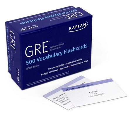 GRE Vocabulary Flashcards (Kaplan Test Prep) Cover Image