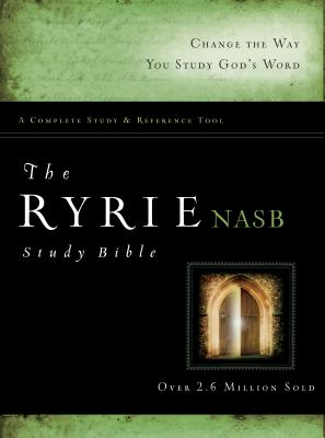 The Ryrie NAS Study Bible Hardcover Red Letter Indexed (New American Standard 1995 Edition) Cover Image