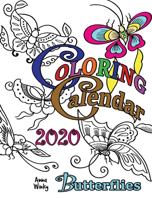 Coloring Calendar 2020 Butterflies Cover Image