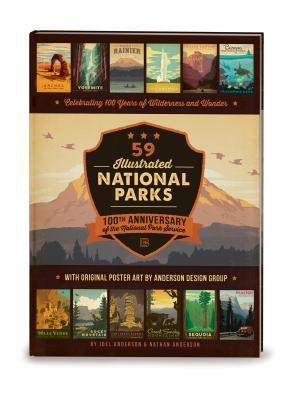 59 Illustrated National Parks - Hardcover: 100th Anniversary of the National Park Service Cover Image