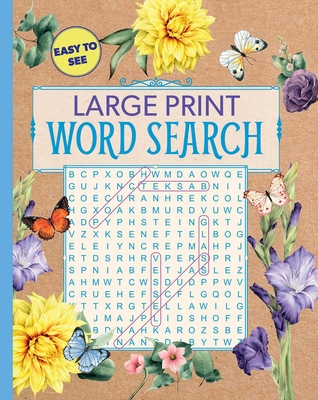 Large Print Floral Word Search (Large Print Puzzle Books) Cover Image