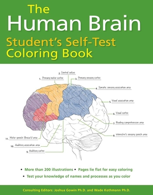 Human Brain Student's Self-Test Coloring Book Cover Image