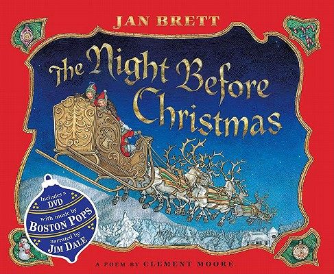 The Night Before Christmas: Book & DVD  Jan Brett, Clement Clarke Moore