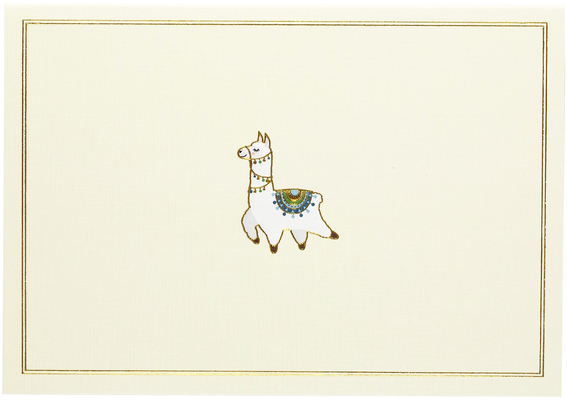 Llama Note Cards Cover Image