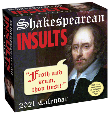 Shakespearean Insults 2021 Day-to-Day Calendar Cover Image