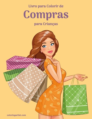 Livro para Colorir de Compras para Crianças Cover Image