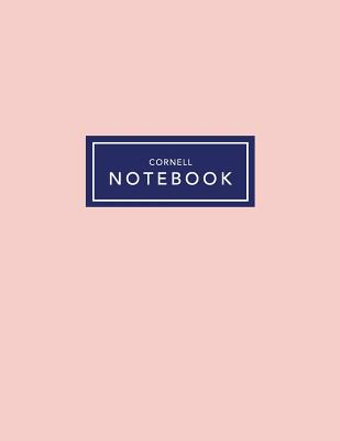 Cornell Notebook: Blush Pink - 120 White Pages 8.5x11