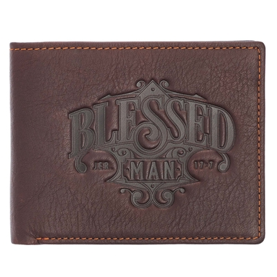 Wallet Leather Blessed Man Cover Image