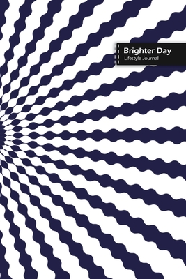 Brighter Day Lifestyle Journal, Blank Write-in Notebook, Dotted Lines, Wide Ruled, Size (A5) 6 x 9 In (Blue) Cover Image